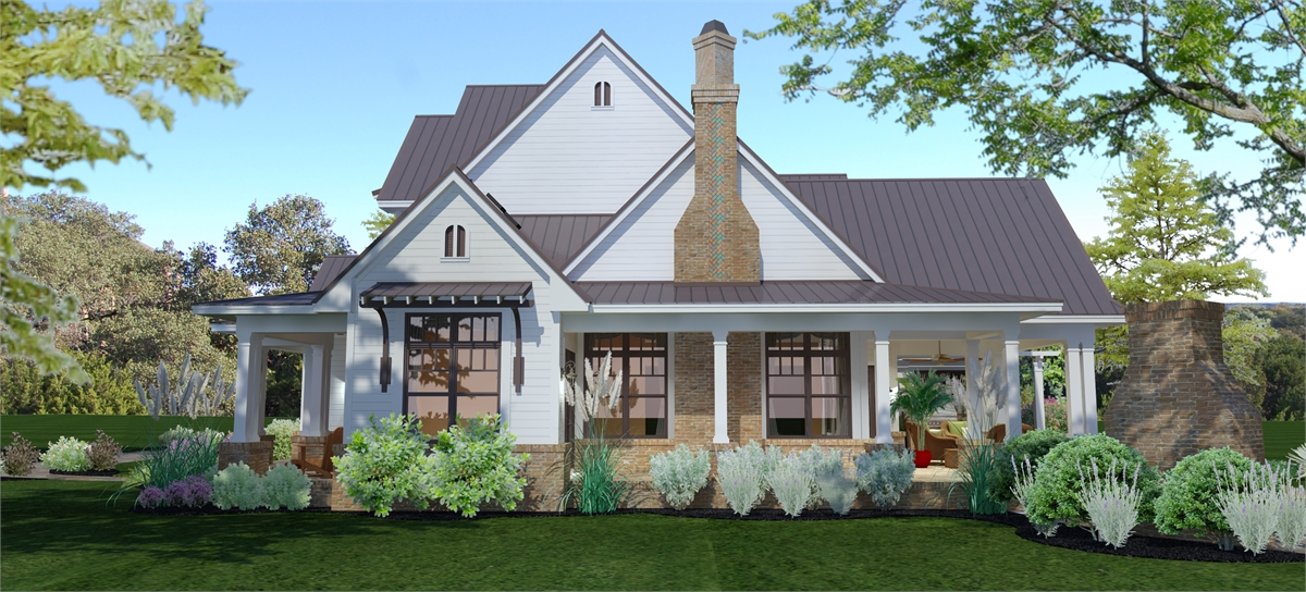 Right View image of Crystal Falls House Plan