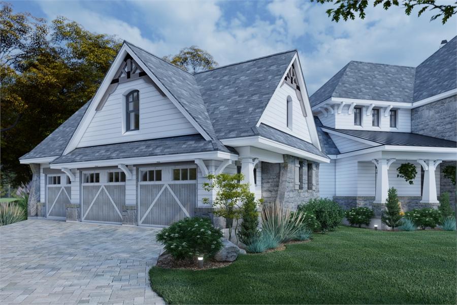 Left View image of L'Bella Liza House Plan
