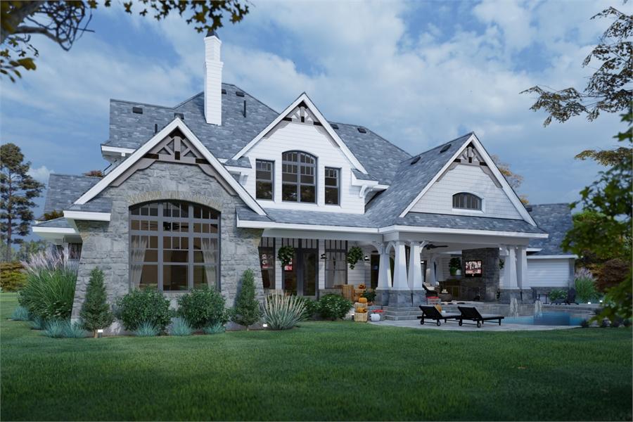 Rear View image of L'Bella Liza House Plan