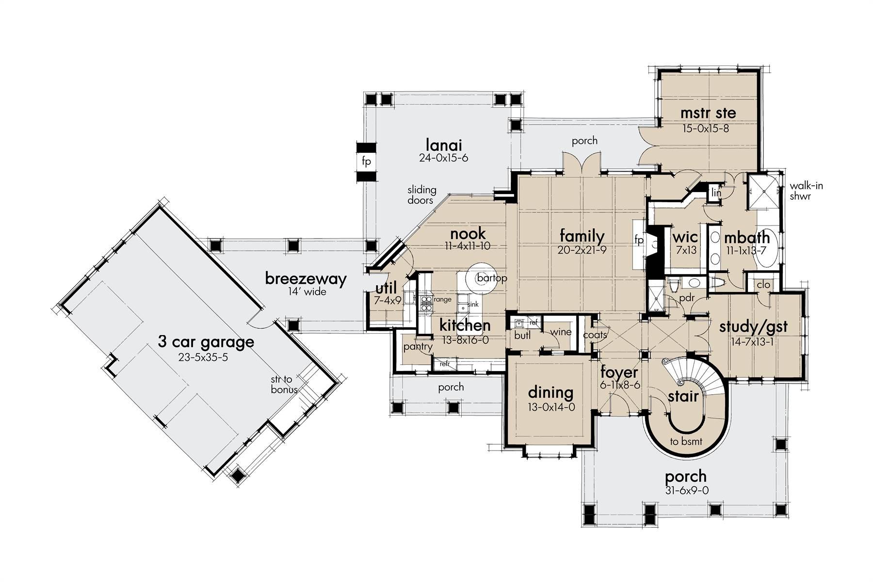 1st Floor image of L'Bella Liza House Plan