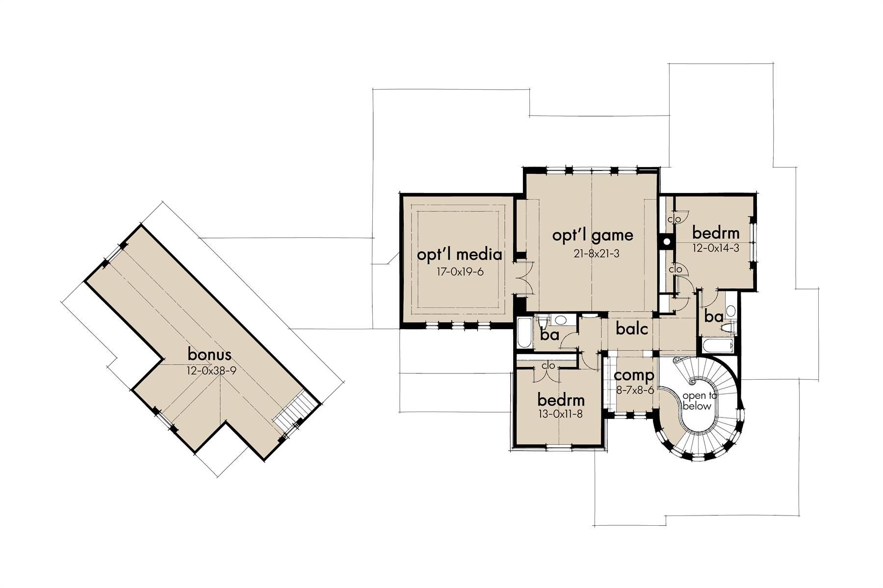 2nd Floor image of L'Bella Liza House Plan