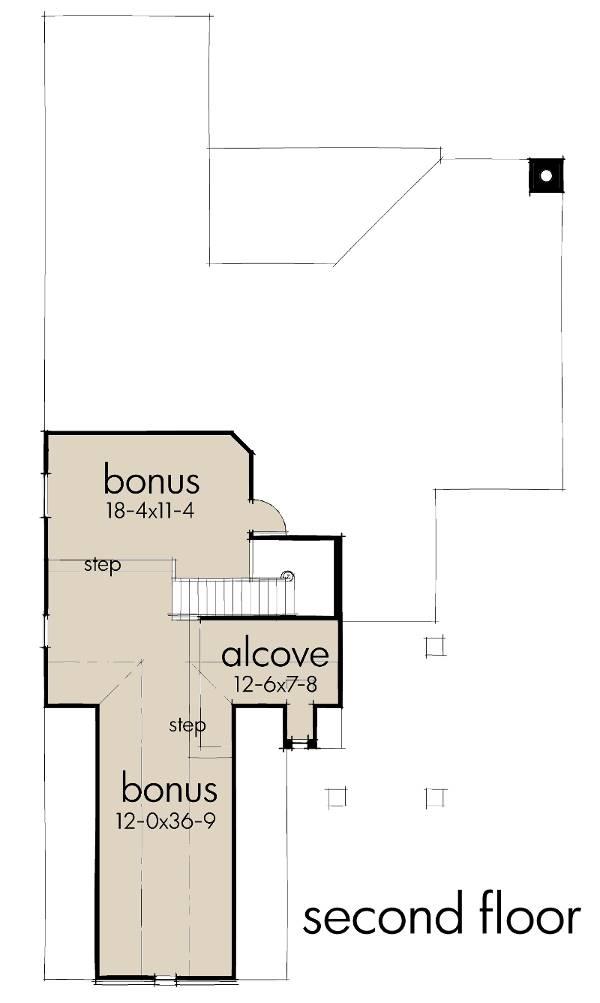 Second Floor Plan image of L'Casa Stretta House Plan