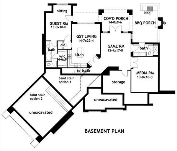 Basement Floor Plan image of Vita di Lusso House Plan