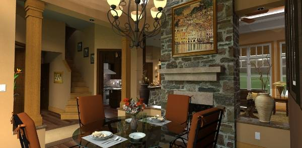 Dining Room image of Vita di Lusso House Plan
