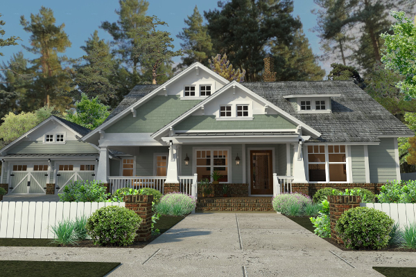 Cottage house plan with 3 bedrooms and 2 5 baths plan 5517 for Wood piling foundation cost