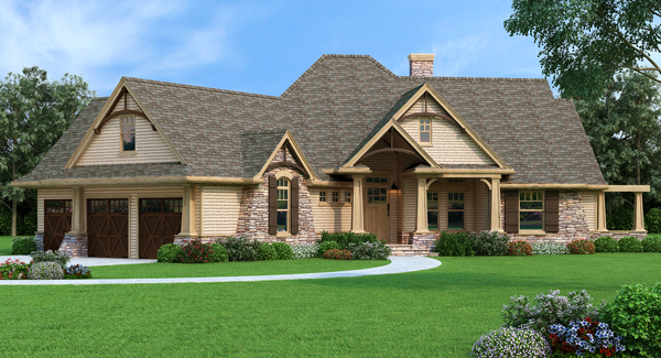 Front Rendering image of Vita di Lusso House Plan