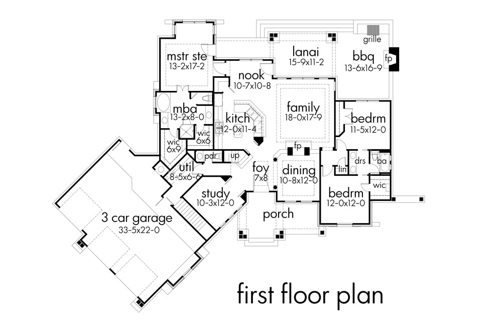 First Floor Plan image of Vita di Lusso House Plan