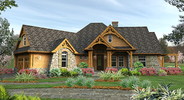 Craftsman House Plan With 3 Bedrooms And 2.5 Baths - Plan 1895