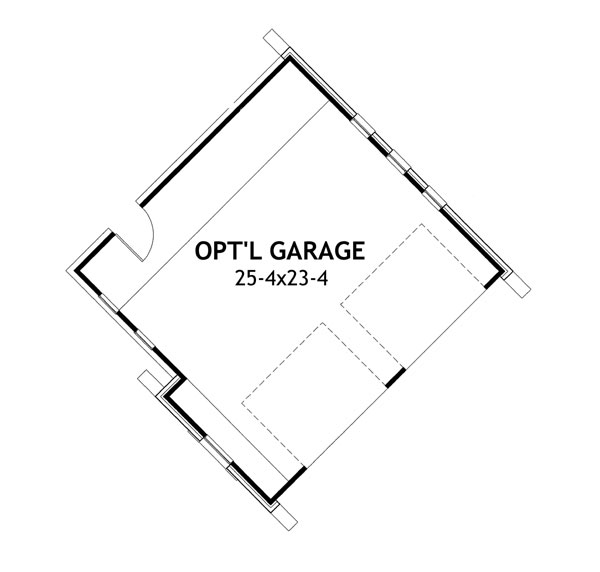 Detached Garage option by DFD House Plans