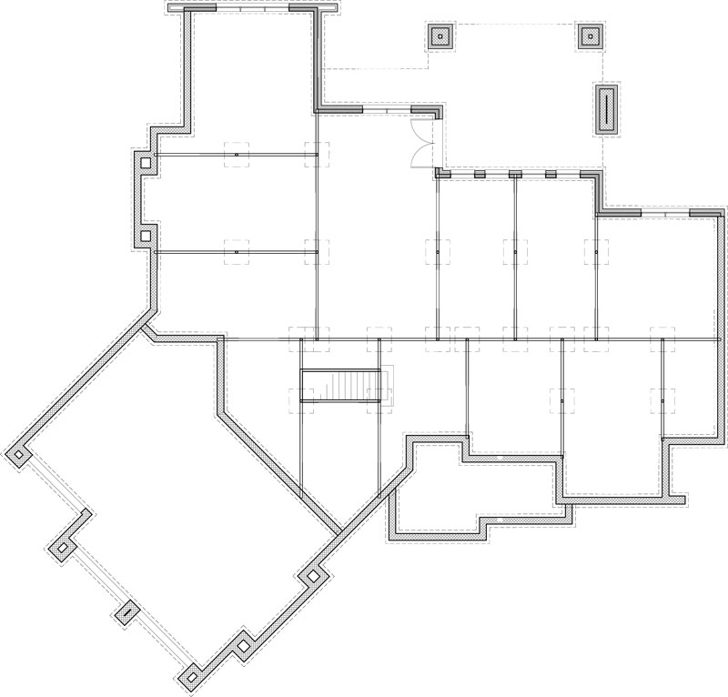 Walkout Basement Floor Plan by DFD House Plans