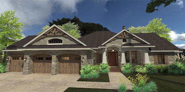Front Exterior image of La Casa Bella House Plan