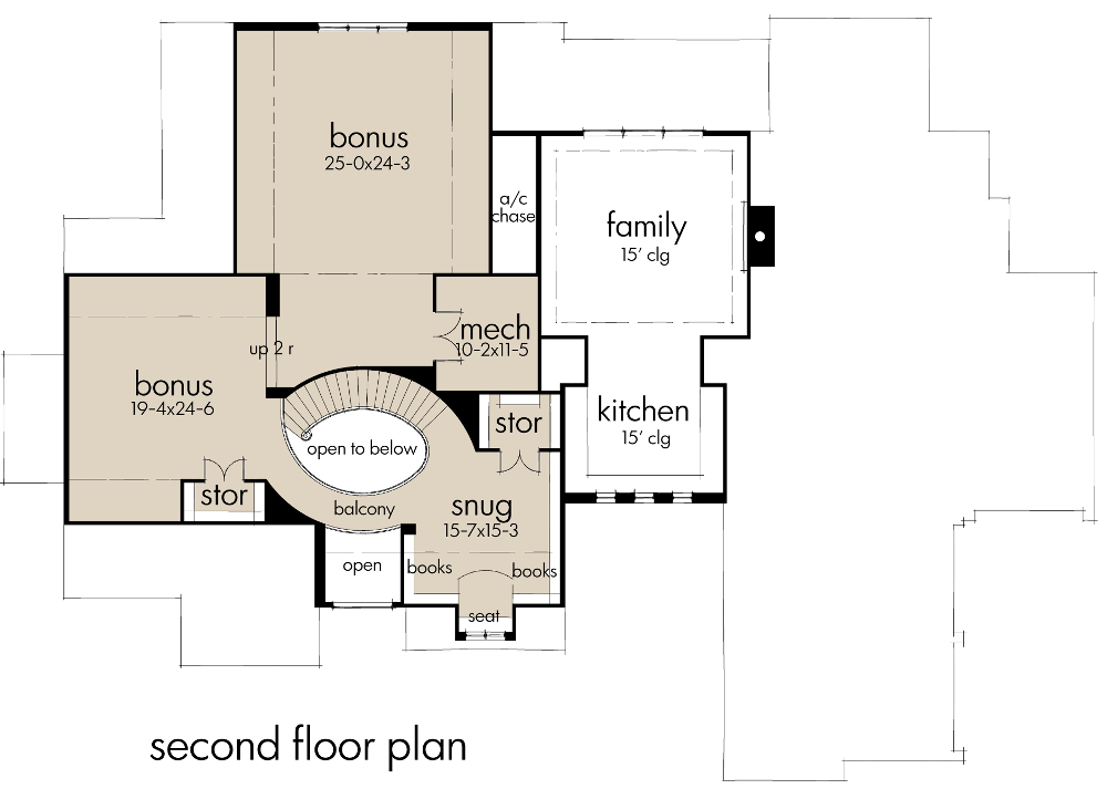 Second Floor Plan image of L'Accettazione House Plan