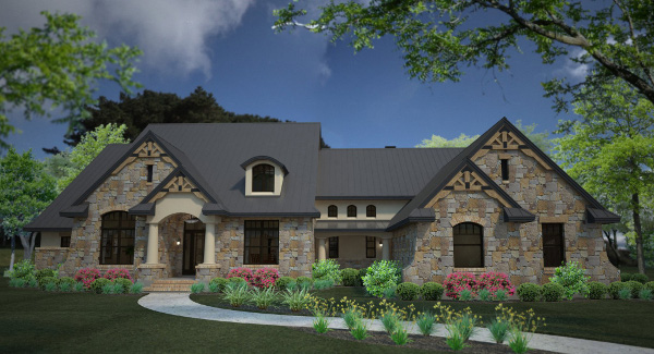 Rendering - Front image of L'Accettazione House Plan