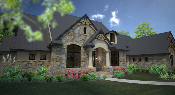 Rendering image of L'Accettazione House Plan