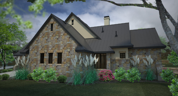 Rendering - Right image of L'Accettazione House Plan
