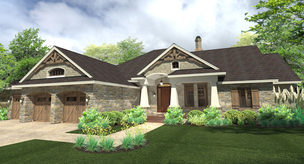 Front Rendering image of La Casa Bella House Plan