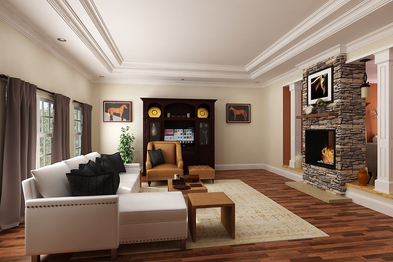 Living Room image of La Casa Bella House Plan