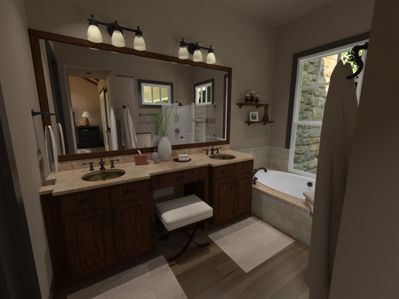 Interiors - Master Bath by DFD House Plans
