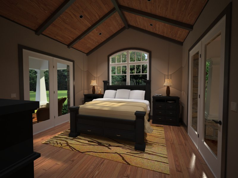 Interiors - Master Bedroom by DFD House Plans