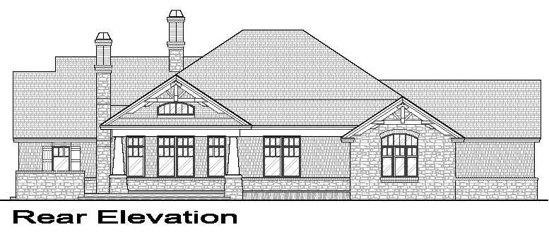 Rear Elevation image of La Casa Bella House Plan