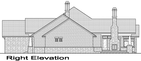Right Elevation image of La Casa Bella House Plan