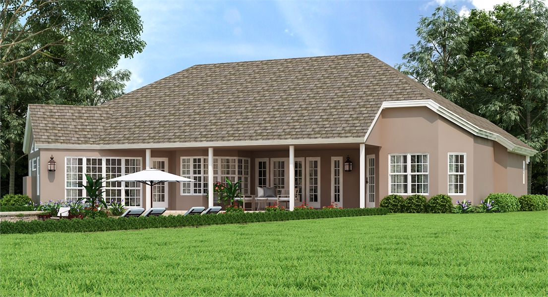 Rear Exerior by DFD House Plans