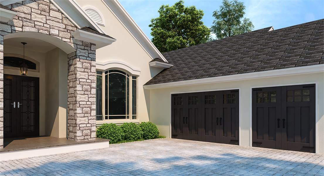Front Entry by DFD House Plans
