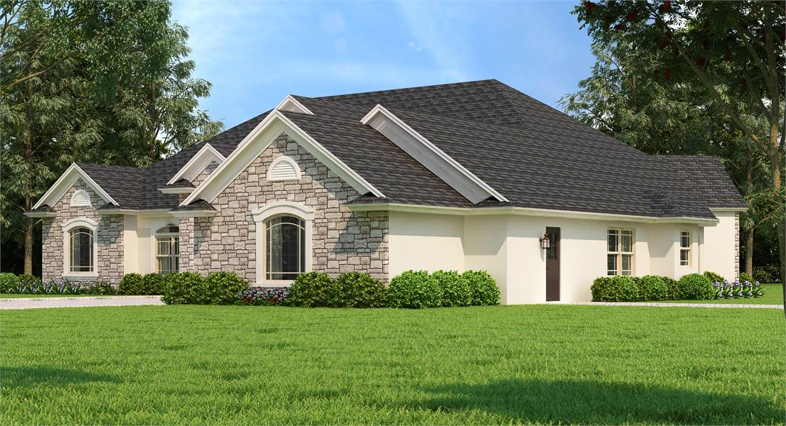 Right Front by DFD House Plans