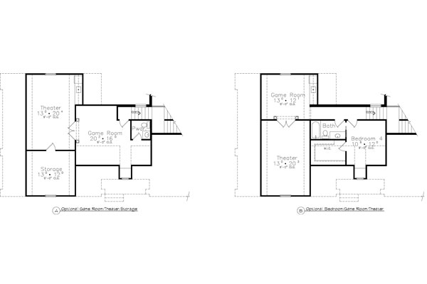 Optional Bonus Plan by DFD House Plans