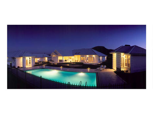 Panoramic - Rear by DFD House Plans