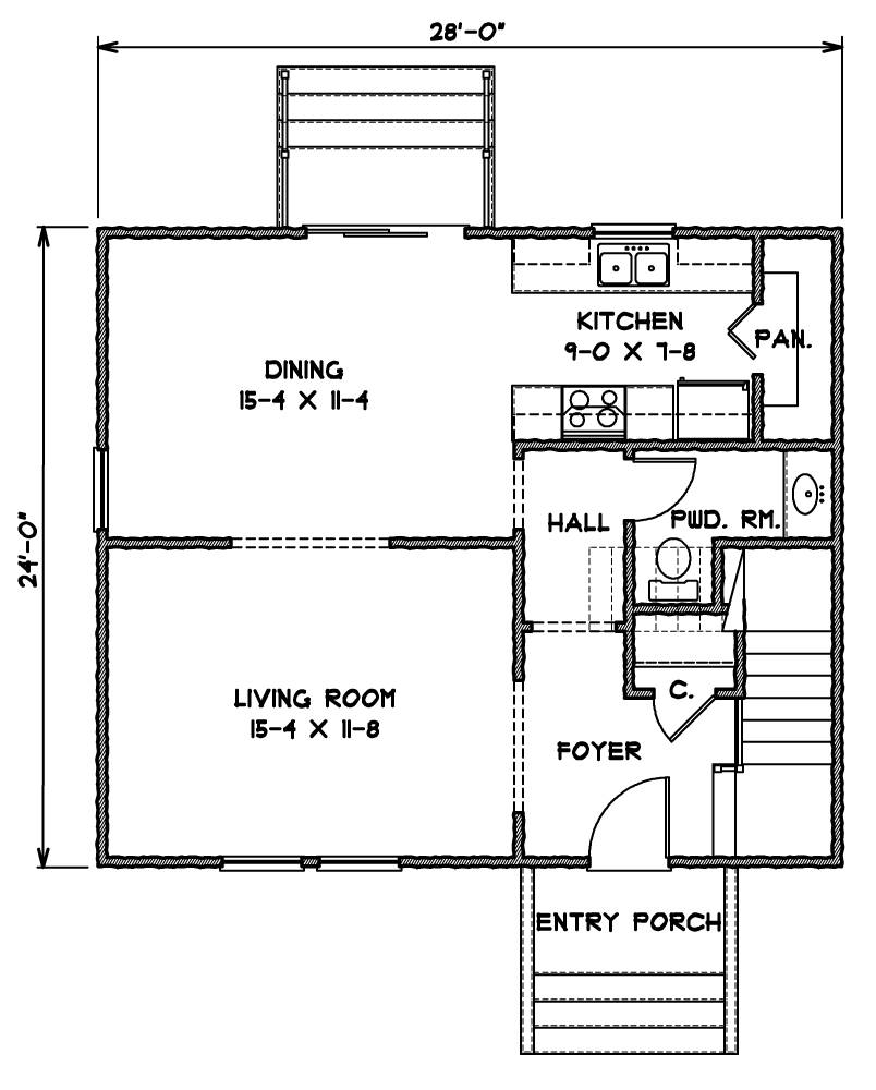 1st Floor Plan image of Norfolk House Plan