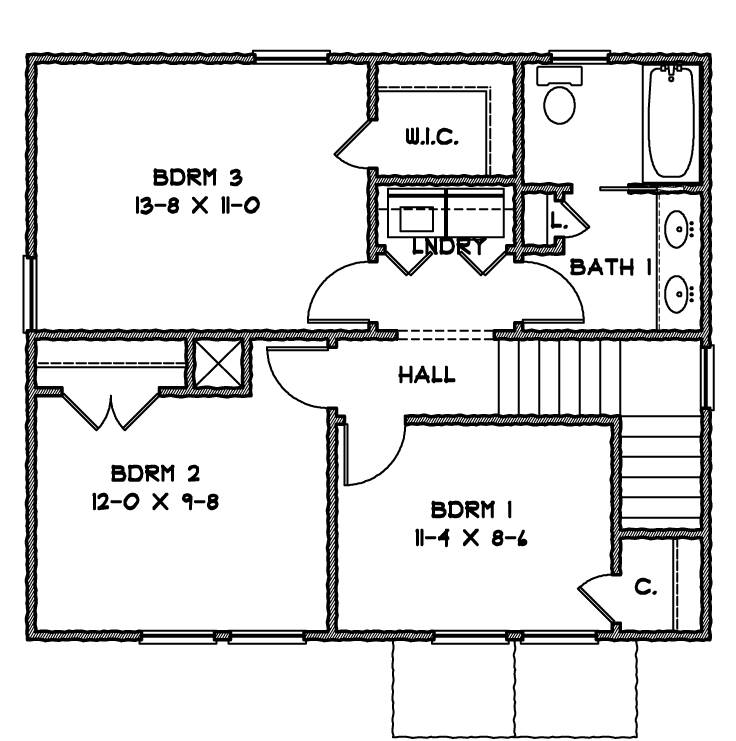 2nd Floor Plan image of Norfolk House Plan