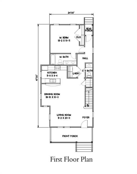 1st Floor Plan image of Burlington House Plan