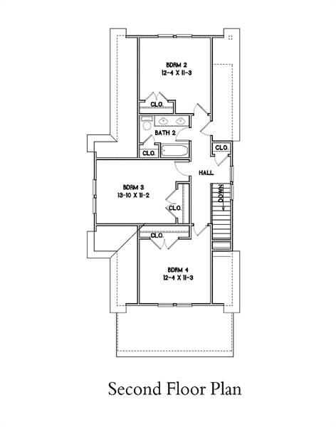 2nd Floor Plan image of Burlington House Plan