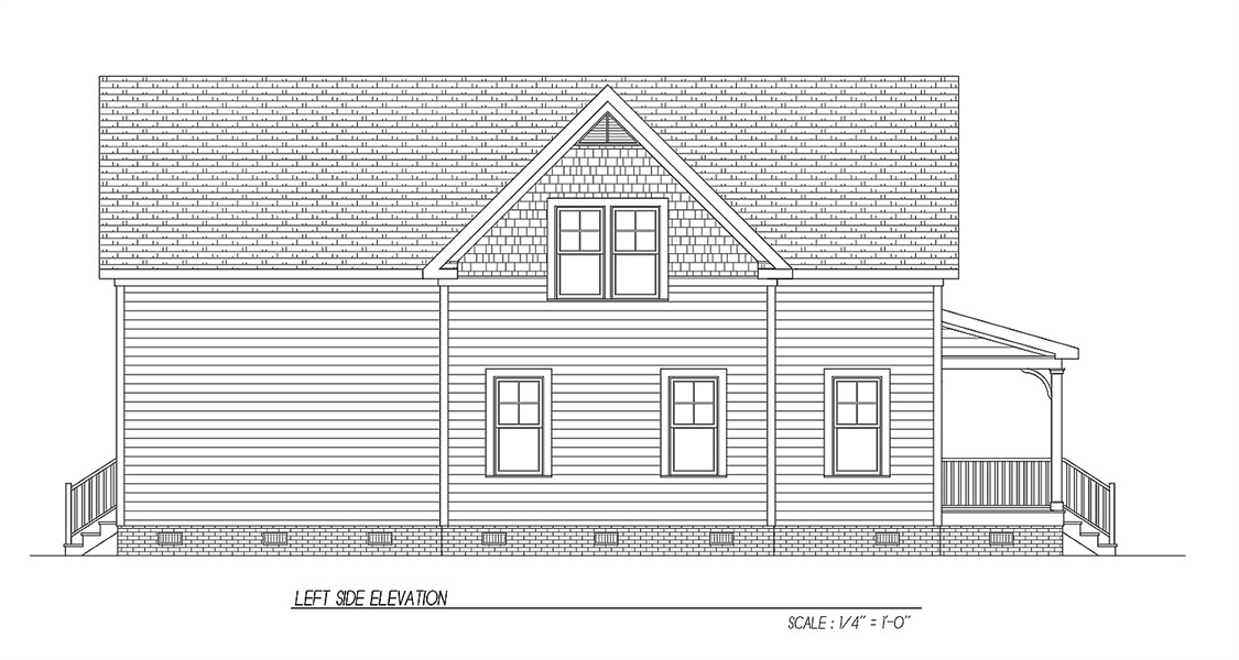 Side Elevation by DFD House Plans