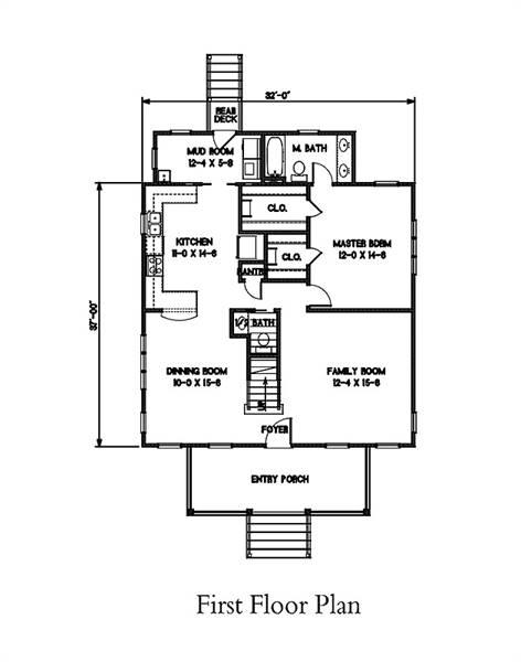 1st Floor Plan image of Watercolor House Plan