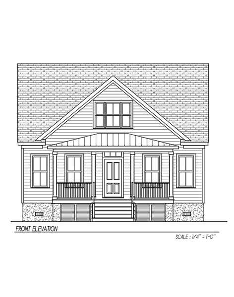 Front Elevation image of Watercolor House Plan