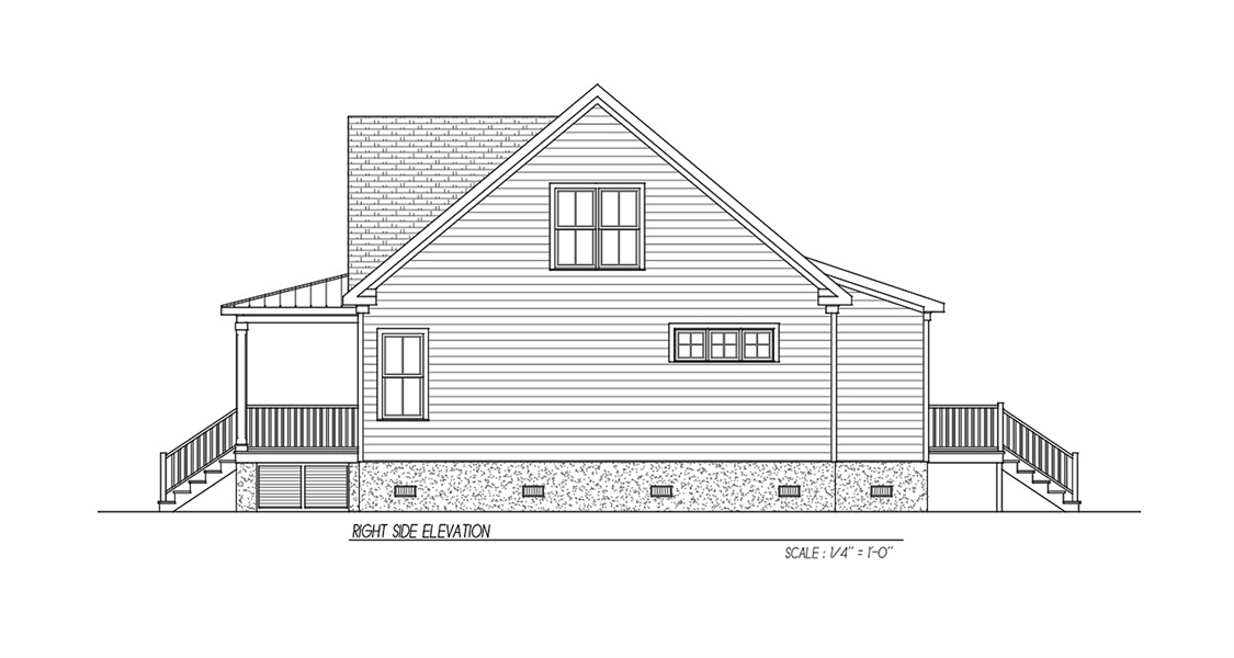 Side Elevation image of Watercolor House Plan