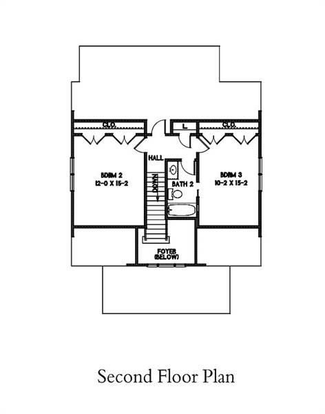 2nd Floor Plan image of Watercolor House Plan