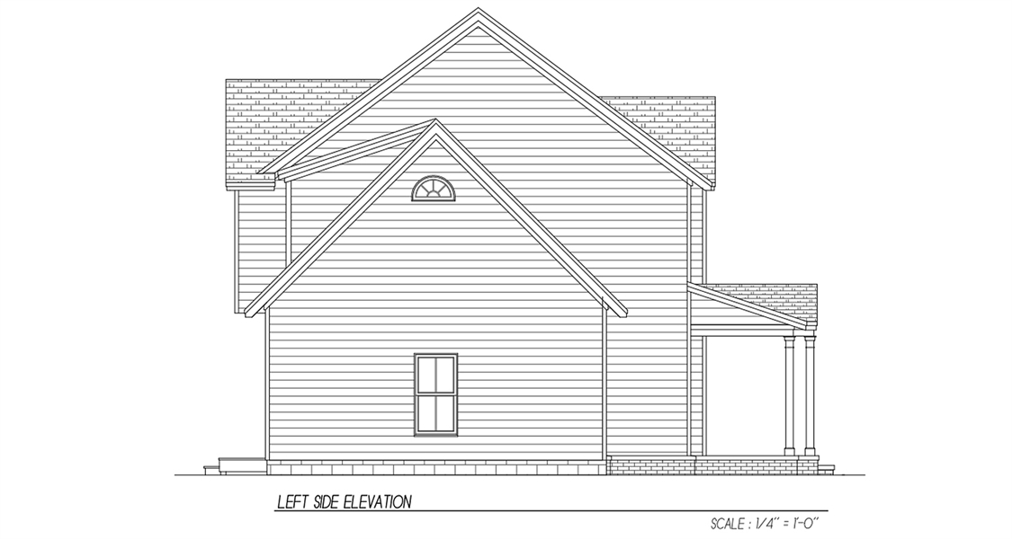 Left Side Elevation by DFD House Plans