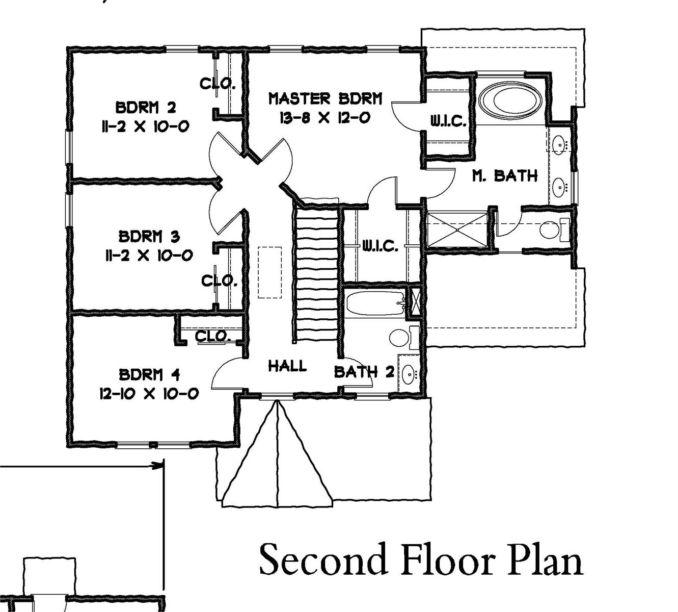 2nd Floor Plan image of Carpenter IV House Plan