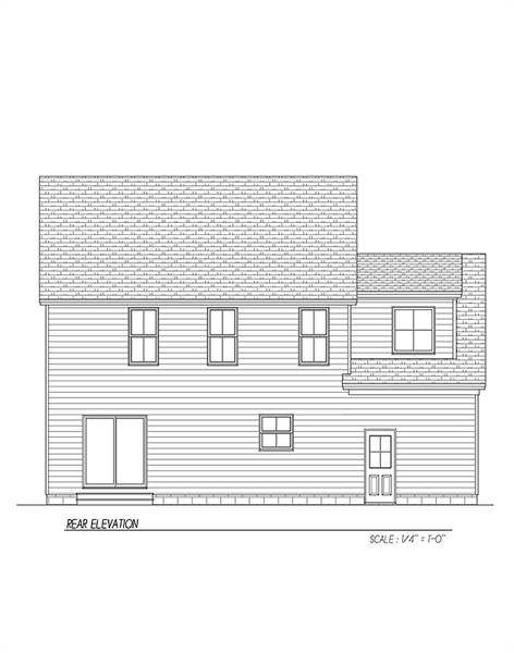 Rear Elevation image of Carpenter IV House Plan