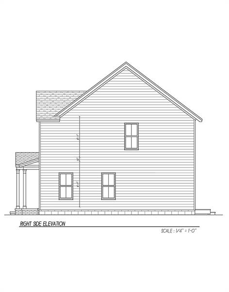 Right Side Elevation image of Carpenter IV House Plan