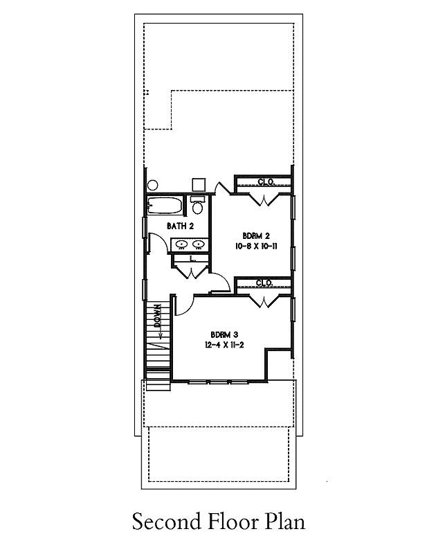 2nd Floor Plan image of Morning Coffee House Plan
