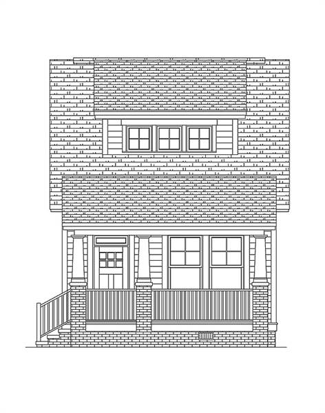 Front Elevation image of Morning Coffee House Plan