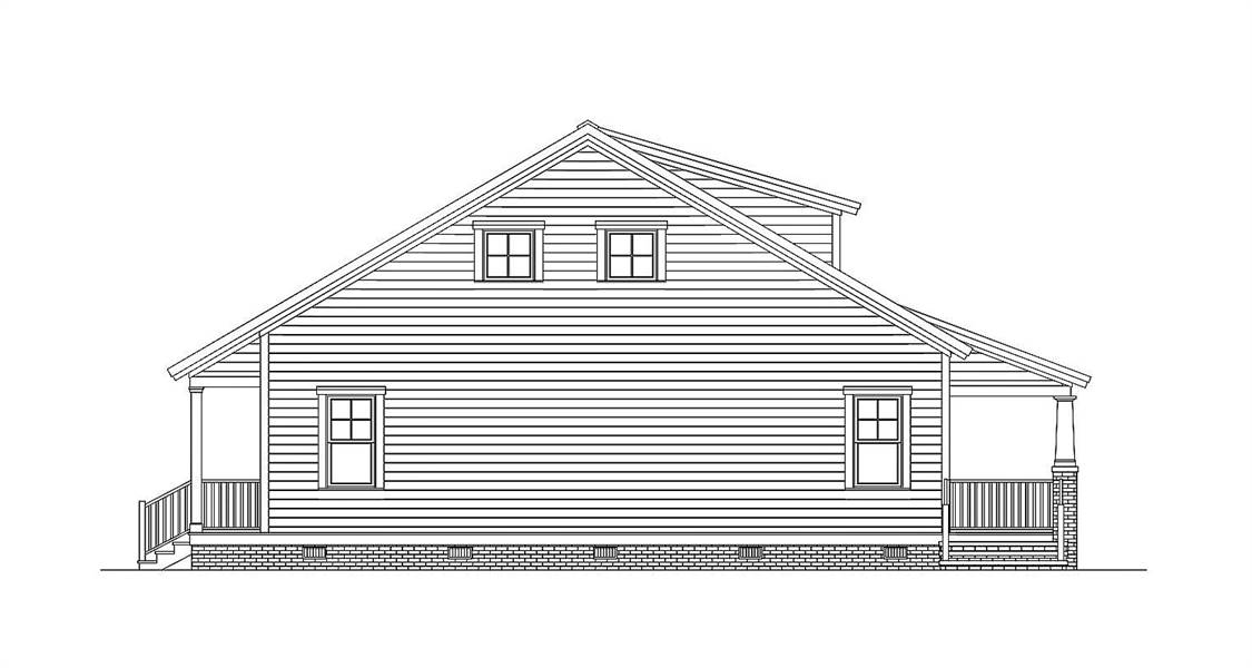 Side Elevation image of Morning Coffee House Plan