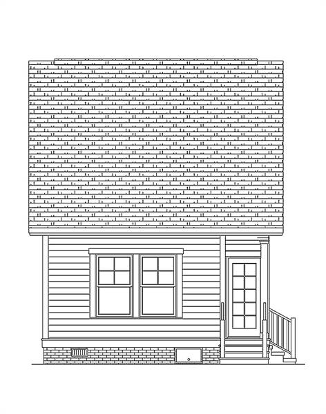 Rear Elevation image of Morning Coffee House Plan