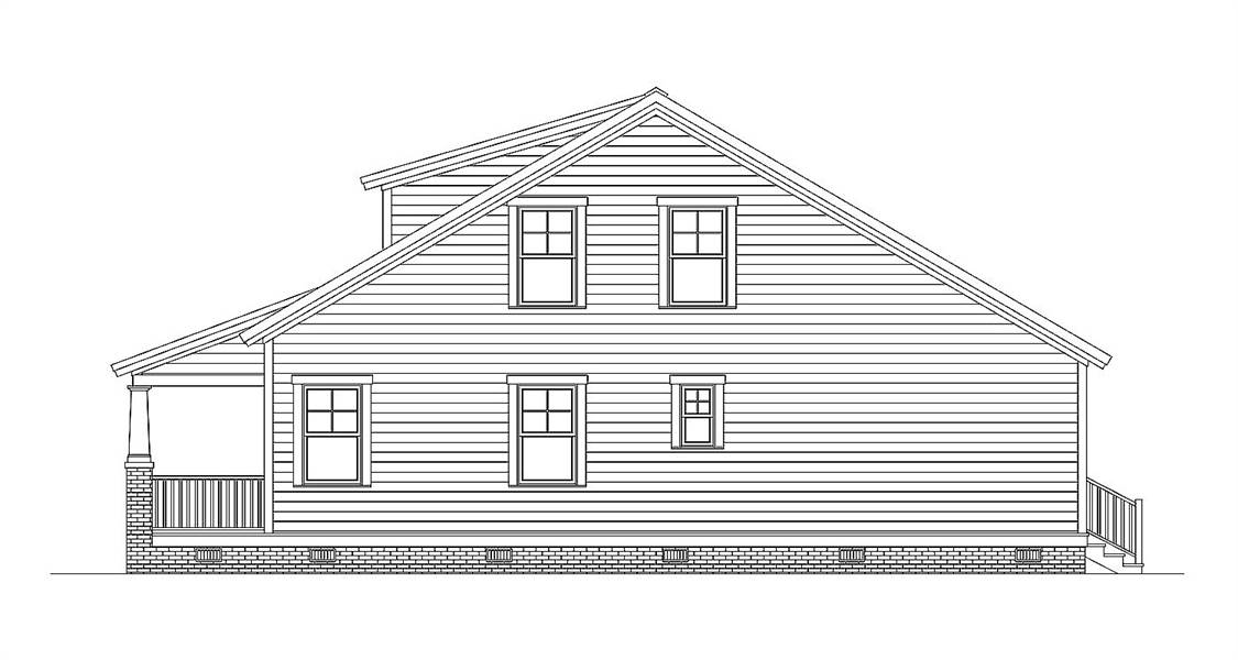 Right Side Elevation image of Morning Coffee House Plan
