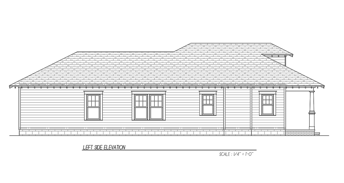 Side Elevation image of Oakwood 31 House Plan