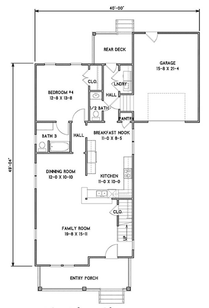 1st Floor Plan image of Rochester House Plan